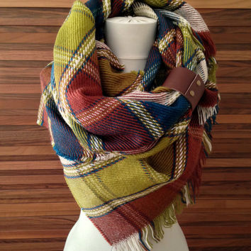 Trendy Blanket Scarf Oversized Blanket Scarf Tartan Blanket Scarf Plaid Blanket Scarf Blanket Chunky Scarf Soft and Cozy Chunky Scarf