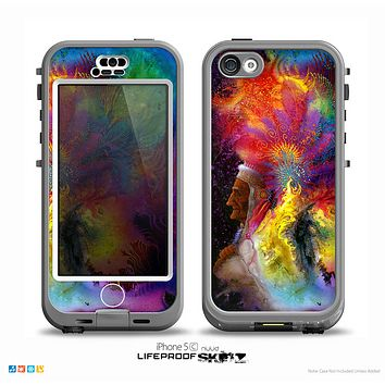 The Mixed Neon Paint Skin for the iPhone 5c nüüd LifeProof Case