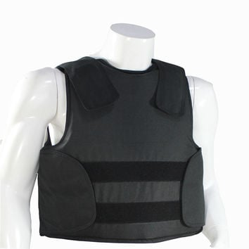 CONCEALABLE BULLETPROOF VEST Police Body Armor Size L to XL Black Color
