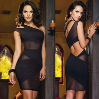 One Shoulder Night Club Party Dress