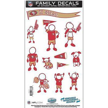San Francisco 49ers Team Family Decal Set