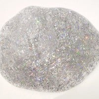 Clear Glitter Holographic Slime