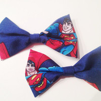 Blue Superman Hair Bows (set of two)