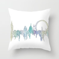 London in Colour Throw Pillow by S. L. Fina