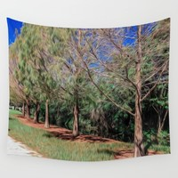 Going for a Walk Wall Tapestry by Gwendalyn Abrams