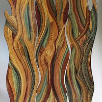 Flames of Grass by Ingela Noren and Daniel Grant (Painted Wood Screen) | Artful Home