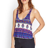 FOREVER 21 Woven-Crossback Crop Top