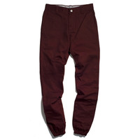 11 After 11 Burgundy Cuffed Carrot Pants