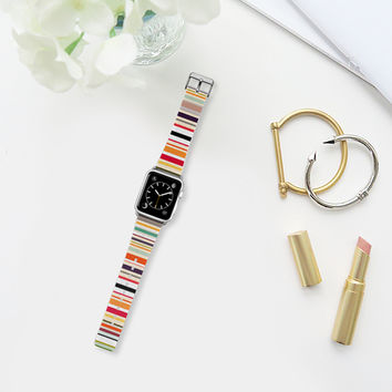 apartment stripe apple watch band Apple Watch Band (38mm) by Sharon Turner | Casetify