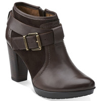 Dark Brown Lida Dallas Leather Bootie | zulily