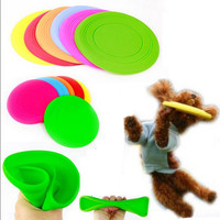 Fantastic Pet Dog Flying Disc Tooth Resistant Training Toy Play Frisbee Tide