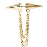 ASOS Double Spike Chain Earring at asos.com