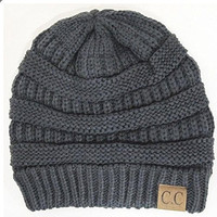 CC Womens Cable Knit Oversized Slouchy Beanie Hat