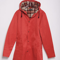 Sunday Morning Autumn Red Rain Coat Full Length Jacket