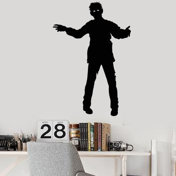 Vinyl Wall Decal Zombie Man Monster Movie Horror Stickers (2500ig)
