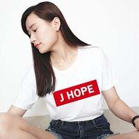New T-Shirt girls T Shirt Women ba-lwc009 white BTS Moletom Printed Casual BTS T-shirts