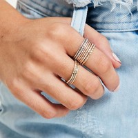 Missguided - Metallic Ring Set