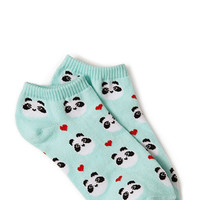 FOREVER 21 Happy Panda Ankle Socks
