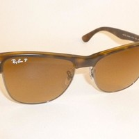 RAY BAN Sunglasses CLUBMASTER OVERSIZED RB 4175 878/M2 Polarized Brown Gradient