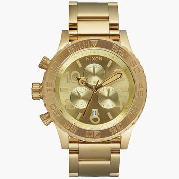 Nixon 42-20 Chrono Watch All Gold One Size For Men 25941362101