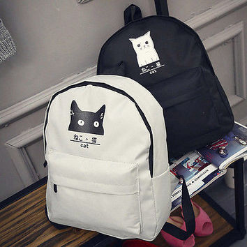 Kawaii Fashion Girl Womens Couple Funny Canvas Backpack Travel Satchel Rucksack School Book Bag NEW