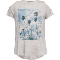 H.I.P. Ferris Wheel Girls Cold Shoulder Tee Heather Grey  In Sizes