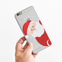 Christmas Peeping Santa Claus - Winter - Snow - Super Slim - Printed Case for iPhone - S058