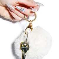Hollywood Mirror Puff 'N' Stuff Keychain