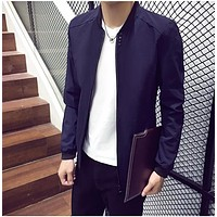 New Arrival Spring Men's Coat Fashion Bomber Jacket Men Jaqueta Masculina Casual Anorak Homme Stand Collar Brand Clothing Mens