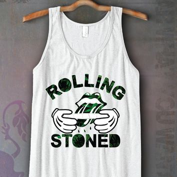 Rolling Stones Leafs Unisex Tank Top Funny and Music