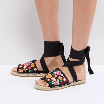 ASOS JAC Embroidery Espadrille Sandals at asos.com