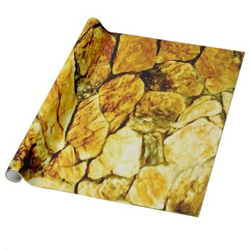Golden Stones Wrapping Paper