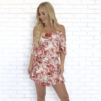 Somewhere Special Pink Floral Romper