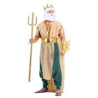 Adult Master Of The Seas Poseidon Greek God | King Neptune Halloween Costume