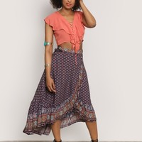OPEN AIR MIDI SKIRT