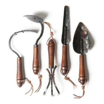 Fisher Blacksmithing Set of 5 Garden Tools