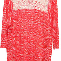 Plus Size Aztec Print Knit Top