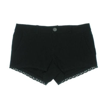 Doll House Womens Juniors Sienna Lace Trim Flat Front Shorts