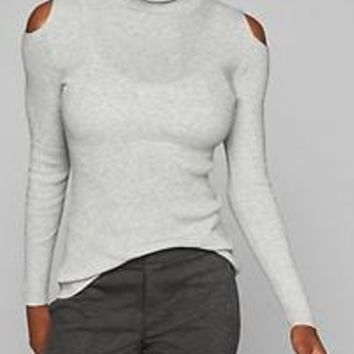 Cotton Cashmere Cold Shoulder Sweater | Athleta
