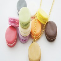 french macaron necklace