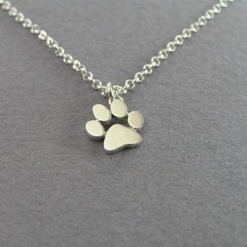 yiustar 2016 New Necklace Tassut Cat Dog Paw Print Animal Necklace women Pendant Long Cute Delicate Statement Necklace XL191