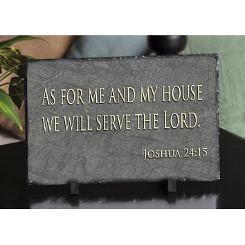 Customizable Slate Religious Sign - Religious Quote Plaque - Handmade and Personalized