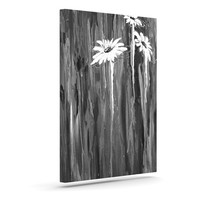 "Brienne Jepkema ""Daises"" Gray Flowers Outdoor Canvas Wall Art"