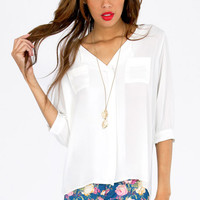 Naya Pocket Blouse $46