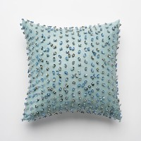 Jennifer Lopez bedding collection Estate Caviar Clusters Throw Pillow (Blue)