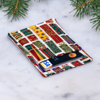 Holiday themed Minimalist wallet | Business card holder | Business card case | Slim card wallet | men and women | Thin wallet | Gift