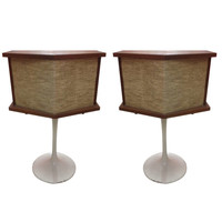 Pair of Bose Saarinen Tulip Base Speakers