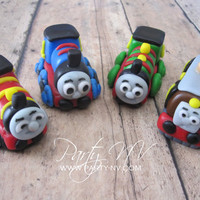 EDIBLE (Fondant Cupcake Toppers) - Thomas the Train