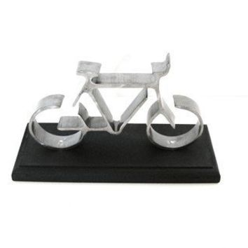 Iron Bike Mounted on Black Base Cake Topper by baconsquarefarm