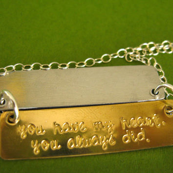 Secret Message Necklace - Personalized Hidden Message Necklace